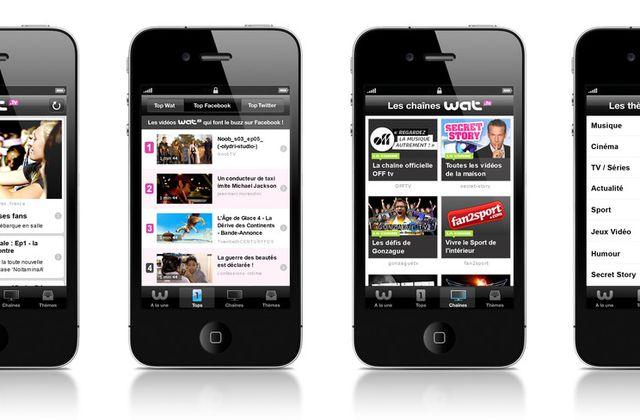 Wat tv lance son application Iphone aujourd'hui.