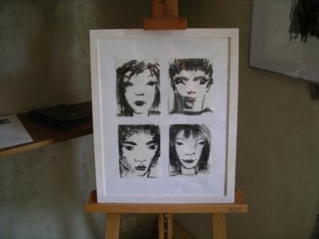 Quelques photos du vernissage et un aperçu des oeuvres exposées...