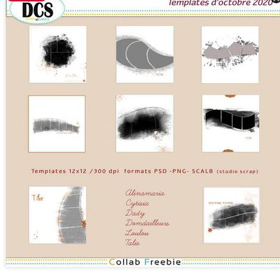 kit gratuit - DCS - Template Artsy