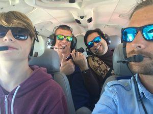 Cervin + Mont-Blanc avec mes passagers américains
