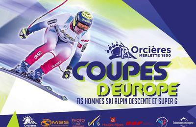 Les coupes d'Europe masculines de ski alpin à Orcières en direct jeudi sur Sport en France