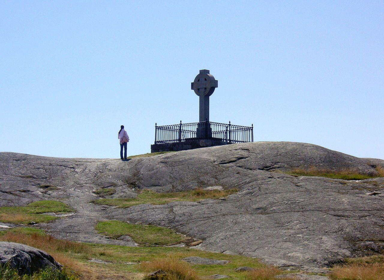 Croix d'Ansgar, à Birka, Suède, 2008