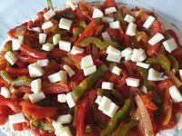 Pizza wrap poivrons mozzarella