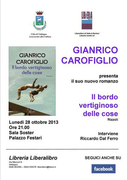 """Gianrico Carofiglio presenta """"Il bordo vertiginoso delle cose"""""""