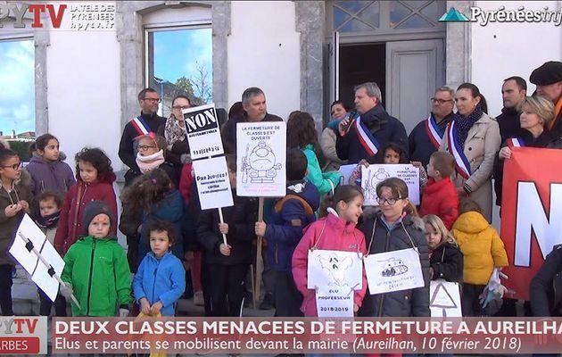 Deux classes menacées de fermeture à Aureilhan (10 fév 18) | HPyTv La Télé de Tarbes