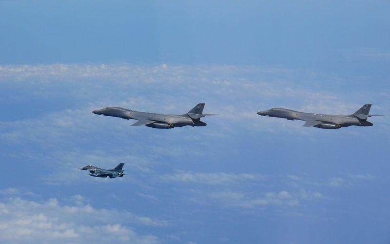 PHOTOS - Des bombardiers B-1B Lancer réalisent une démonstration de force en Corée du Sud