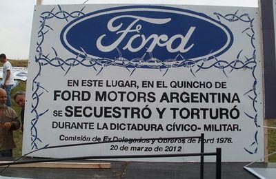 Argentine : d'ex-dirigeants de Ford jugés pour complicité avec la junte et ses tortionnaires