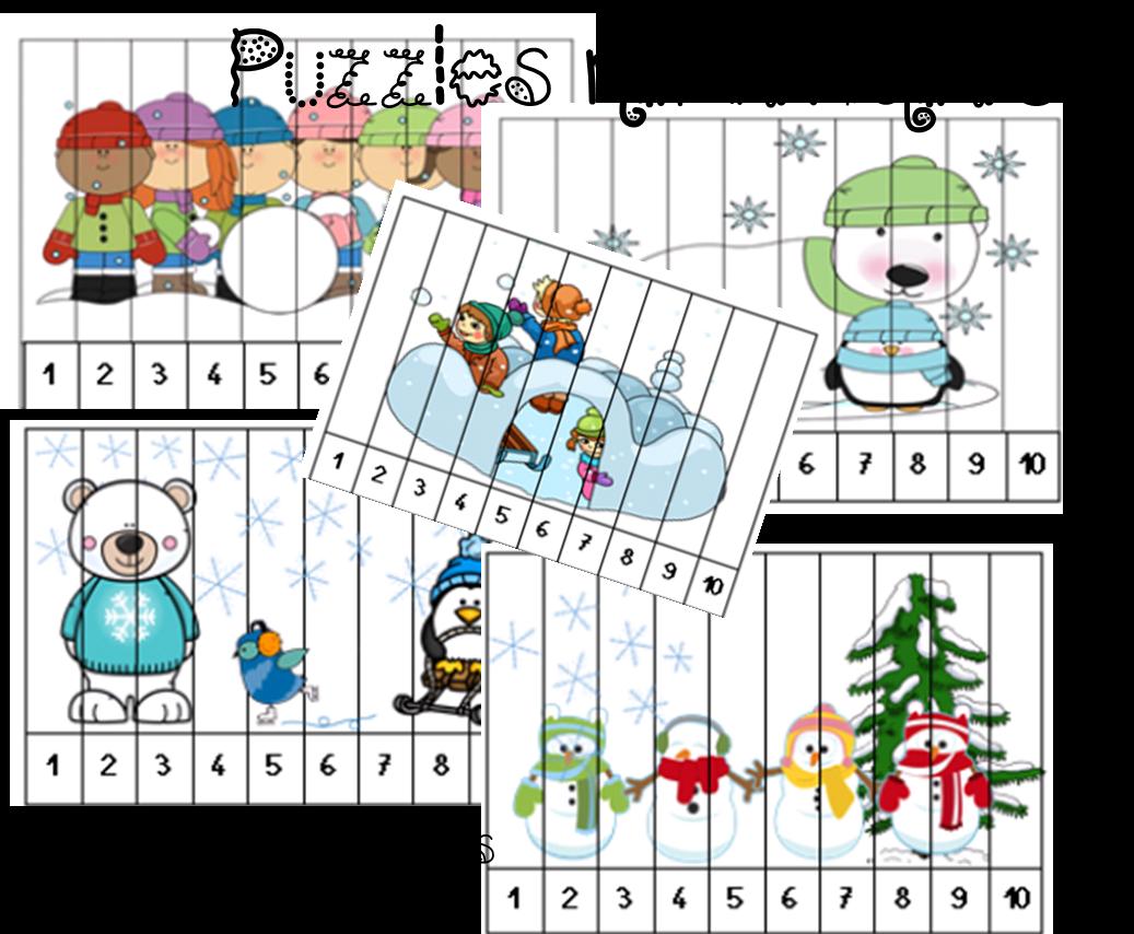 Hiver : Puzzles numériques