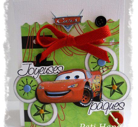 Pochette à chocolats Joyeuses Pâques version Cars...