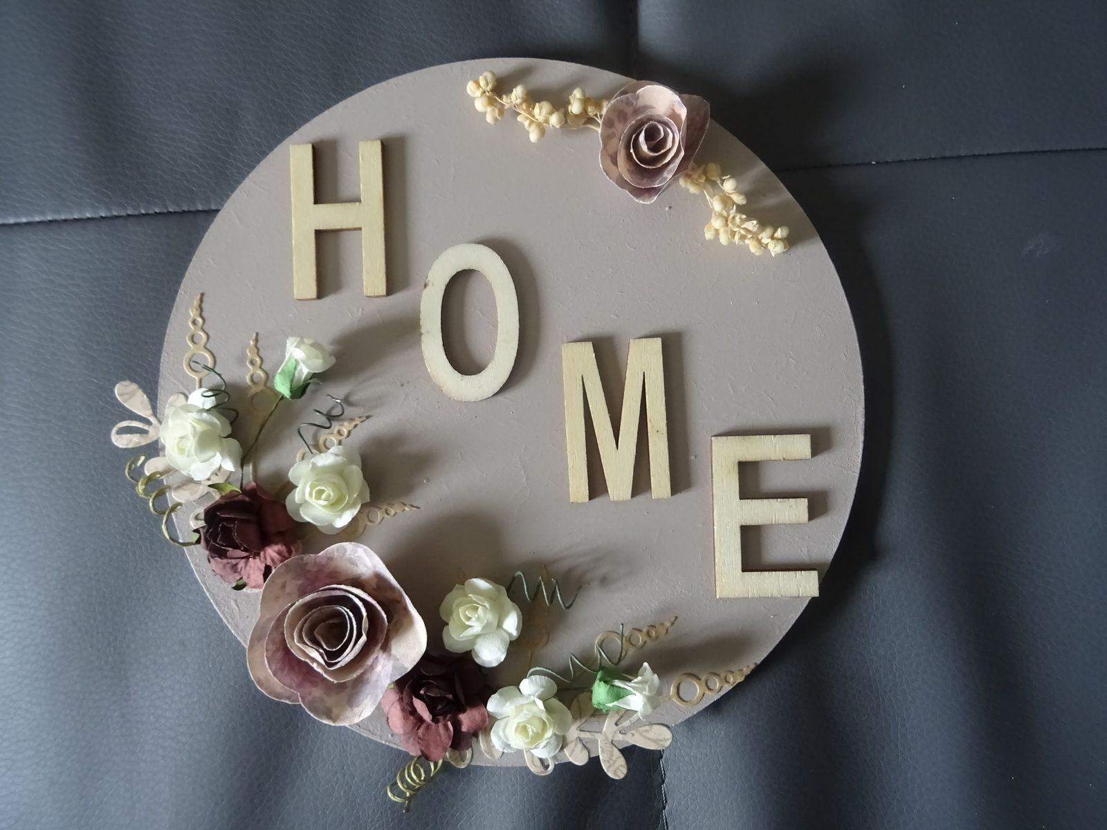 """home déco """"home"""" taupe"""