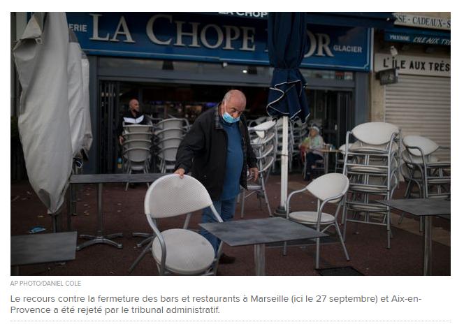 CORONAVIRUS: A Marseille et à Aix, les bars et restaurants devront rester fermés