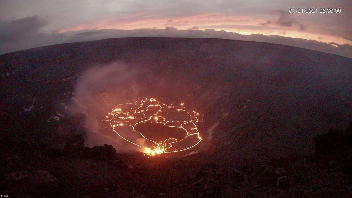 Kilauea - Halema'uma'u crater on  01.01.2021 / 06h30 HST - photo USGS