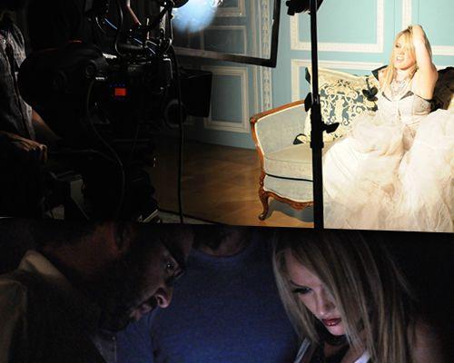 EXCLUSIF / Les photos des coulisses du clip sulfureux de Hilary Duff !
