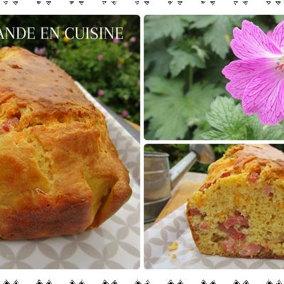 Cake aux lardons & son confit d'oignons