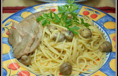 rôti de porc oignon et champignons