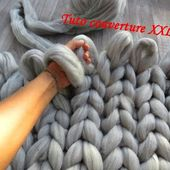 TUTO COUVERTURE XXL TRICOT AVEC LES MAINS Knit xxl blanket with hands TEJIDO MANTA CON LAS MANOS