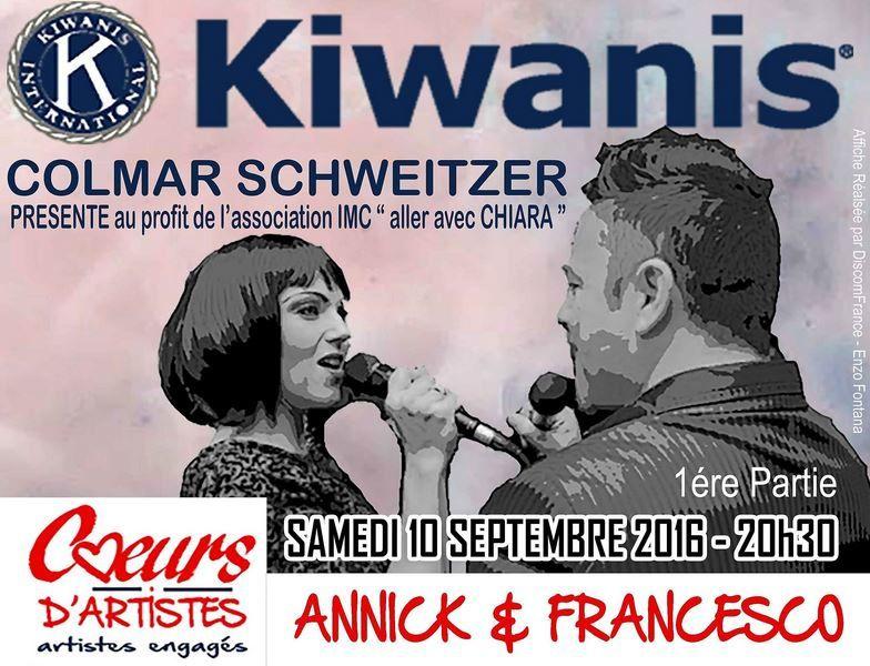 Concert Kiwanis le 10 septembre à l'Espace Ried Brun de Muntzenheim