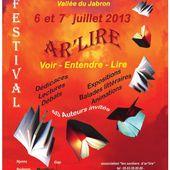 -Festival Ar'lire 0213, Voici le programme...