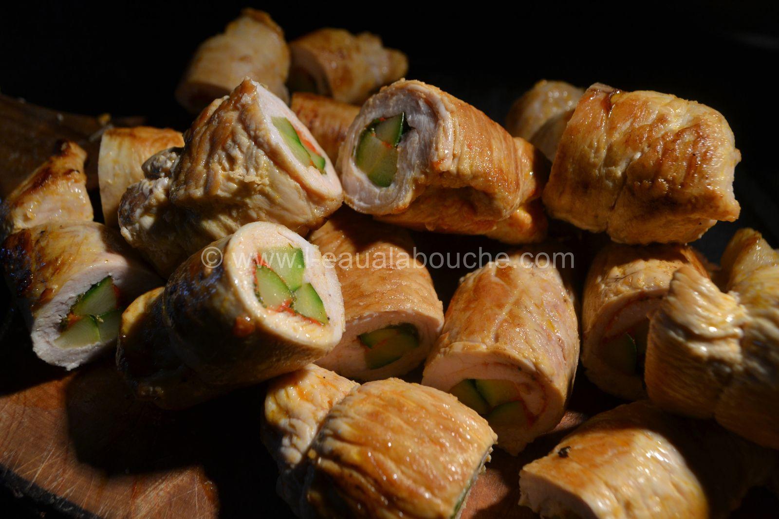 Escalopes de Dinde Farcies Sur Crème de Courgette et de Couscous
