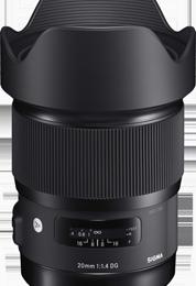SIGMA: nouveau 20mm f1.4 DG HSM Art