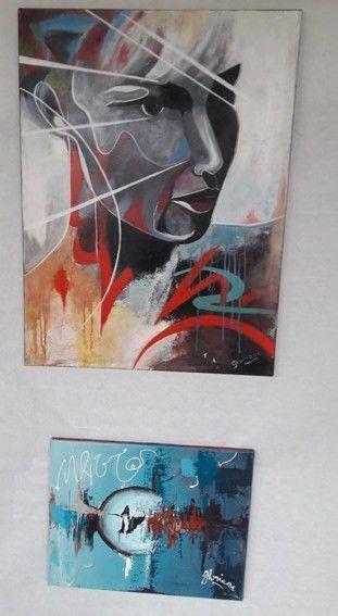 Exposition de peinture - les oeuvres