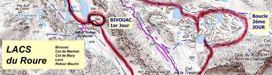 LACS de ROURE - Col de MARY - Haute Ubaye - ( depuis MAURIN )