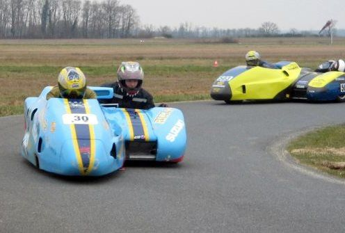 Side-Car-Party mars 2010 Démonstrations side car de course Circuit de Lurcy-Levis (Allier)