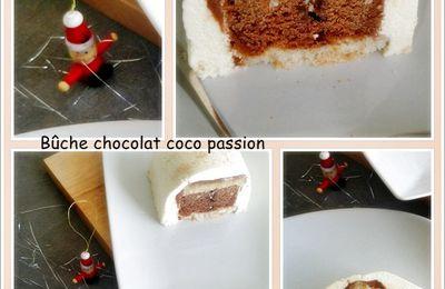 Bûche chocolat coco passion