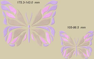 Broderies machine : papillons.