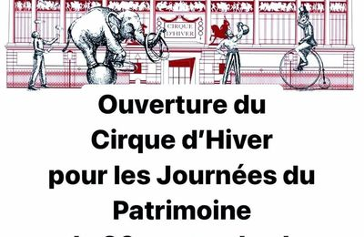 Pour les journées du patrimoine 2020, visiter le cirque d'hiver