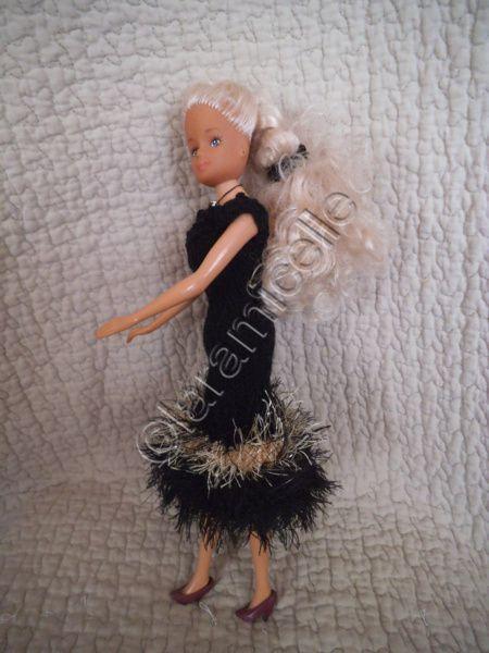 tuto gratuit barbie: robe de soirée noire et or