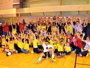 Arbre de Noël du handball avec Baptiste BUTTO à Algrange en 2012