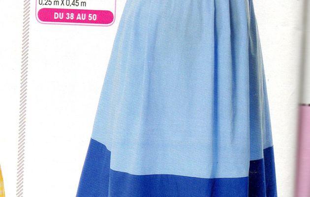 "patron sur Mesure : ""robe de future maman"", modes & travaux mai 2014"