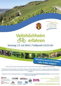 """Klimawandel im Mittelpunkt der Veitshöchheimer Fahrraderlebnistour """"Wein, Wald,Wasser"""" am 9. Juli"""