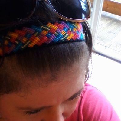 Bandeau motif multi tresse multicolore
