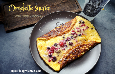 Omelette paléo aux fruits rouges