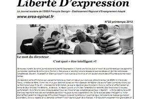 """Liberté D'expression"" n°22 (printemps 2012)"