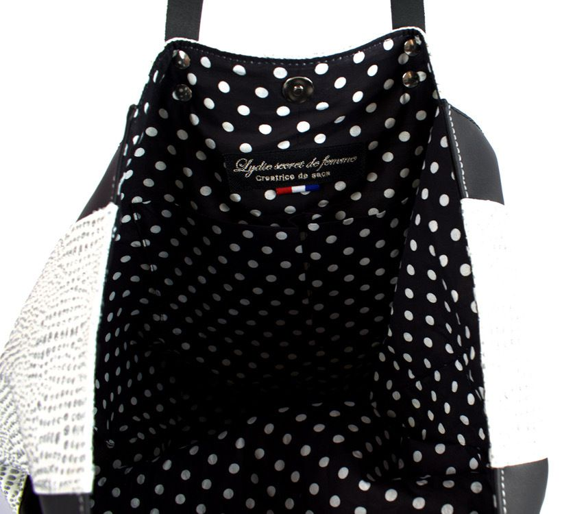 "SAC CABAS ""BLACK & WHITE """
