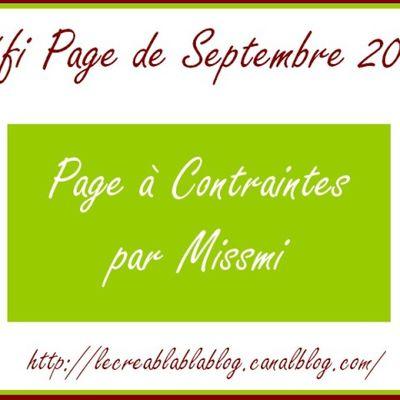 Défi page de septembre Créablablablog