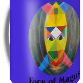 Face Of Magus Text Coffee Mug for Sale by Michael Bellon