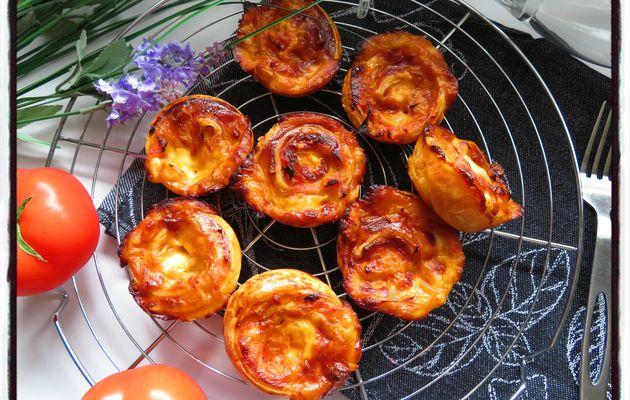 Tartelettes feuilletées à la tomate