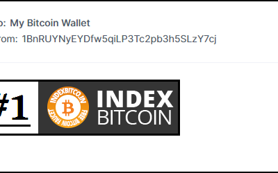 First Bitcoin's payment received from Indexbitcoin