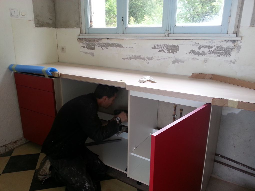 the kitchen is being refurbished ! travaux en cours !