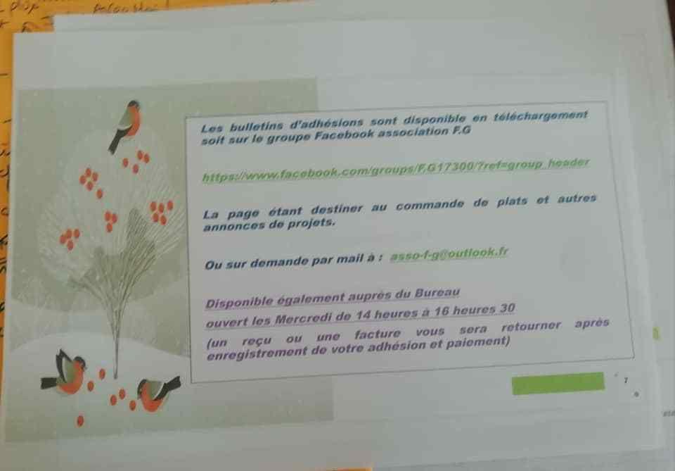 "LIVRET DE PRESENTATION de l'association "" ASSOCIATION F.G """