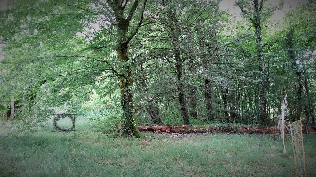COLLECTIF FIL ROUGE 2019 Jardin D'Hélys-Oeuvre - Saint-Médard D'Excideuil - Dordogne - TOMBEZ DANS LE PANNEAU