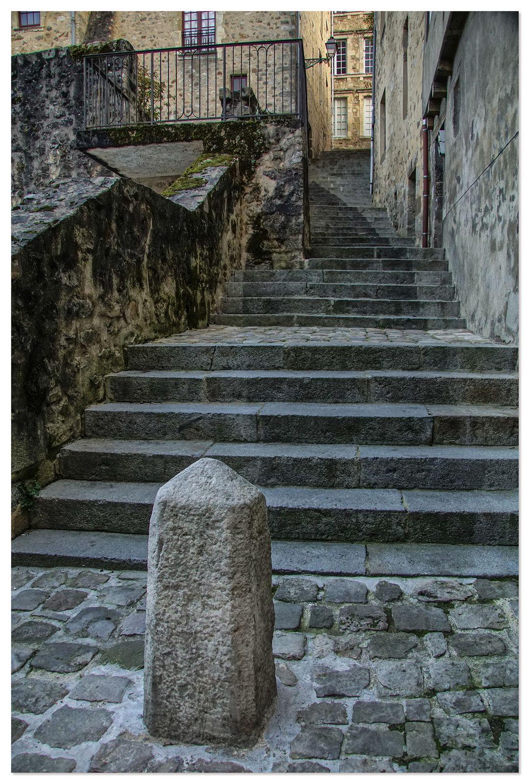 Escalier de la petite Poterne - Cité plantagenêt - Le Mans