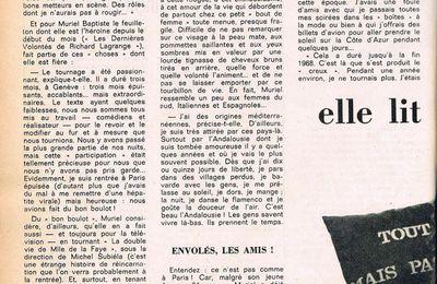Interview Télémagazine Juillet 72 2 pages