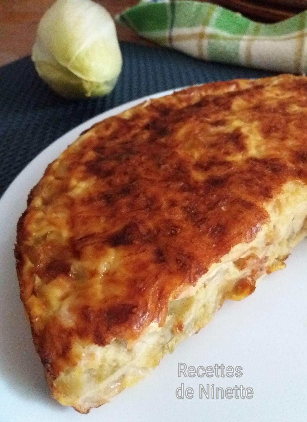 Quiche sans pâte endives saumon fumé et fromage WW 2 sp