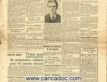 «Berlin encerclée et à moitié conquise Ulm Brème Maréchal Pétain pronnier Pauwels Maurice», La Voix du Nord, 25/4/1945.