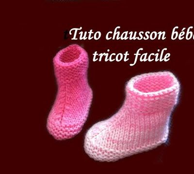 explications tricot chaussons